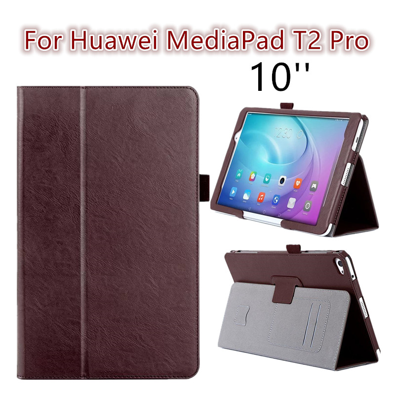 For Huawei Mediapad T2 Pro 10.0 new arrive flip cover case folding stand Fundas protective skin shell for Huawei T2 pro 10 inch 360 rotating case for huawei mediapad m5 10 8 folding stand pu leather case flip cover for huawei m5 pro 10 8 inch tablet fundas