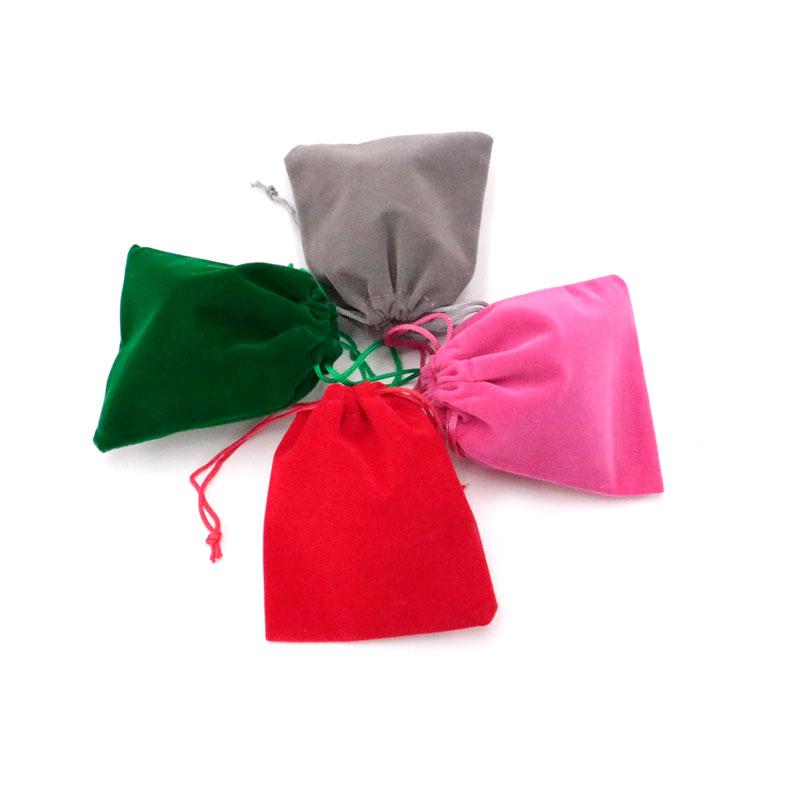 Wholesale 50pcs/lot 10x12cm Large Drawstring Bags Multi Color Solid Useful Velvet Nice Jewelry Packaging Bags Gift Pouch Cheap