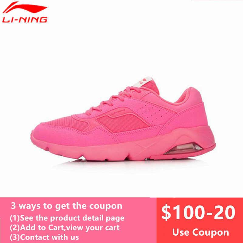 0744eb18f05f Li-Ning Air Sole женские кроссовки для бега, амортизирующие дышащие  кроссовки, летняя