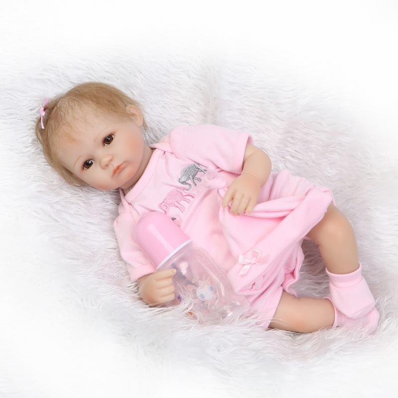 42cm Bebe Reborn Silicone Reborn Baby Doll Toy Doll Reborn Our Generation Dolls Birthday Gifts Girl Cheap Hot Sale Juguetes new year merry christmas gift 18 american girl doll with clothes doll reborn silicone reborn baby doll our generation doll