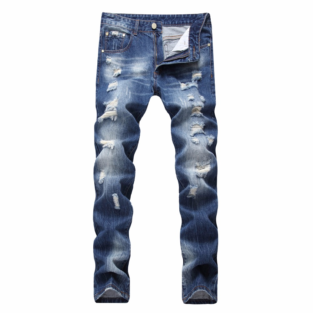 OnnPnnQ Style Men Fashion Full Length Solid Skinny Jeans Men Hollow Clothing Male Denim Pants U&Shark Luxury Casual Trousers