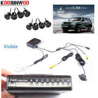 Koorinwoo Car Parking Sensors 8 Redars Video System Auto Parking System BIBI Alarm Sound Alarm Parking Assistance parktronic