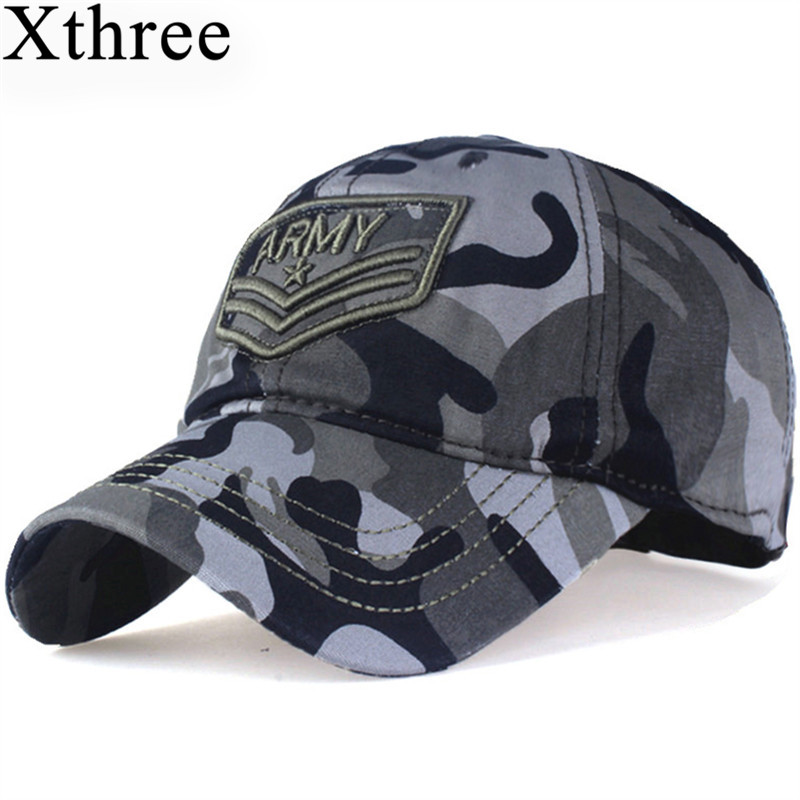Xthree camouflage baseball cap Letter army snapback Hat for men Cap gorra casquette dad hat Wholesale high quality unisex camouflage baseball cap swag cap casual outdoor sport snapback hat for men cotton cap women gorra casquette