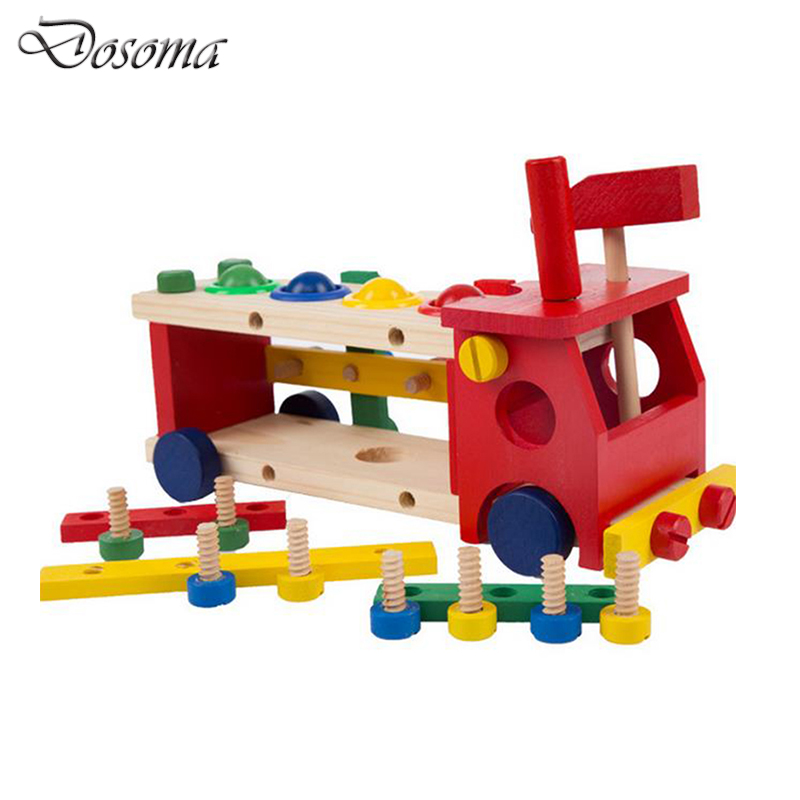 High Quality Wooden Creative Building Blocks Column Toys Educational Kids Gifts 3D Geometric Shape Car Nut Combination Wood Toy крчок bemeta 104106062