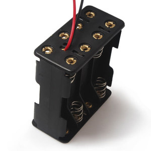 Image 2 - 1PCS 8 x AAA 12V Battery Holder Case Double Side Spring Battery Holder With Wire Lead Back By Back Plastic Battery Box AAA