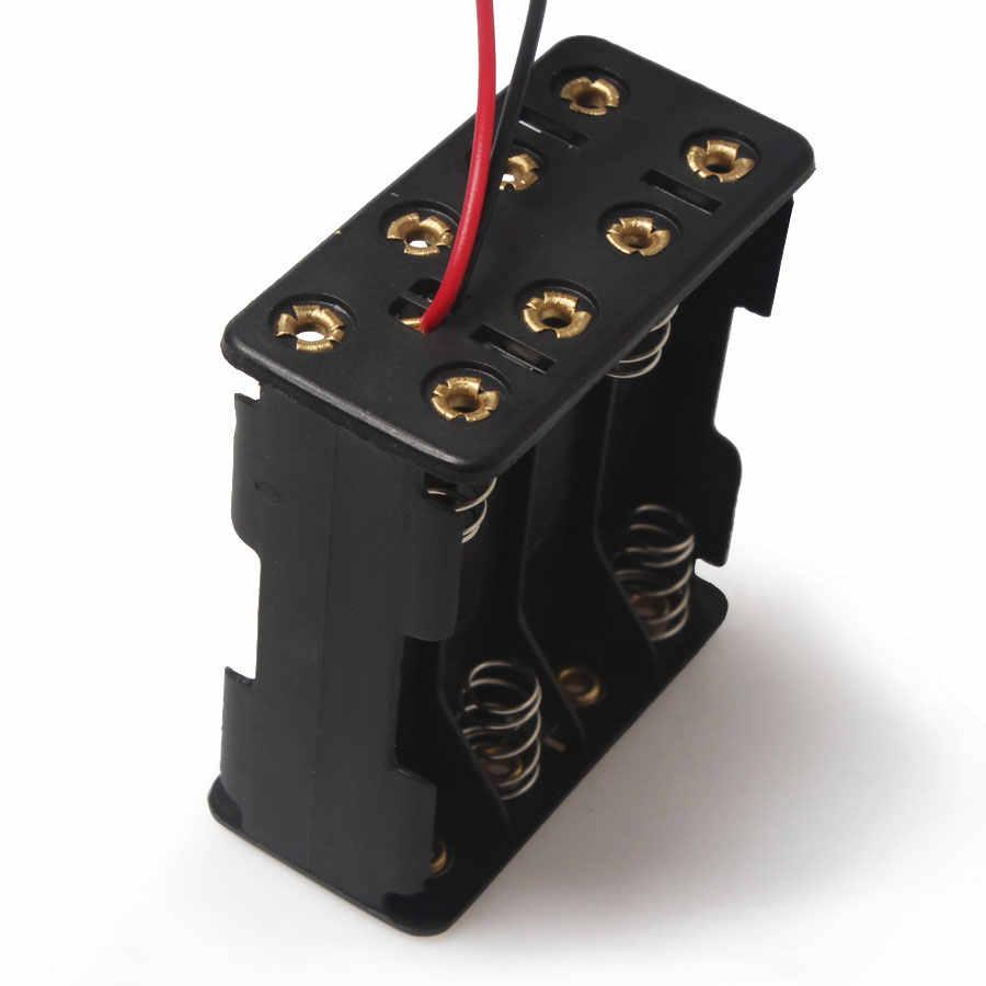 Caja de Sostenedor de Bater/ía de Resorte 5pcs 3 AAA para Luz L/ámpara Blanco