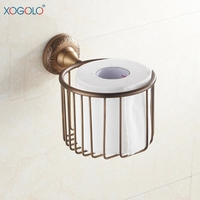 Xogolo European Style Antique Bathroom Tissue Basket Retro Hollow Out Roll Toilet Paper Holder Wholesale And