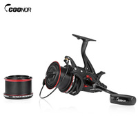 COONOR Full Metal Spinning Fishing Reel with Double Spool Folding Handle for Fishing NFR9000 + 8000 12 + 1BB Bearing 4.6:1 Gear