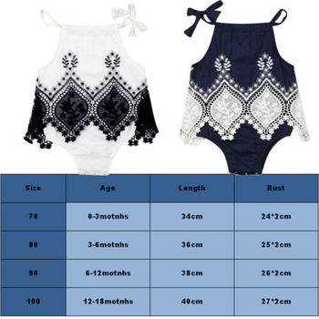 2019 Infant Newborn Baby Girl Sleeveless Halter Lace Patchwork Lovely Fashion Romper Jumpsuit Dress Clothes Summer Playsuit