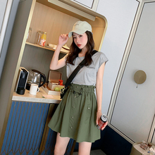 2019 Summer New Womens Dress Korean Fashion Contrast Color Stitching Female Fake Two-piece Dresses Sporty Style Above Knee Mini