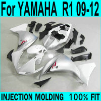 FuXP plastic part Fairings For YAMAHA YZF R1 2009 2010 2011 2012 2013 ( White silver ) Injection Fairing kit XP13