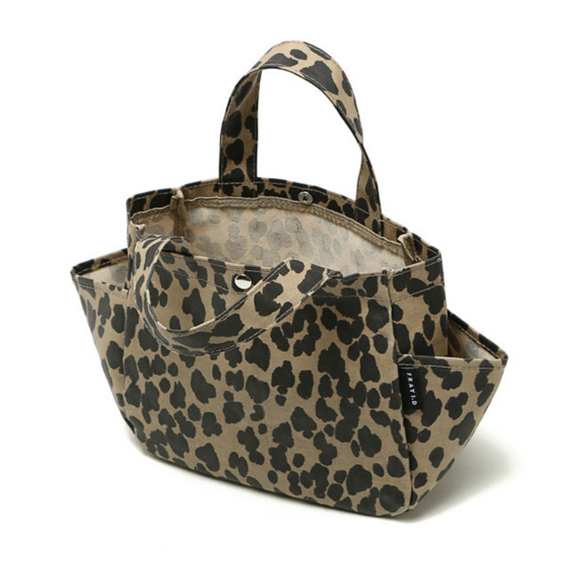 Leopard Print Handbag Portable Lunch Bag Women Kids Baby Casual Bags Box Ttote Waterproof Food Container