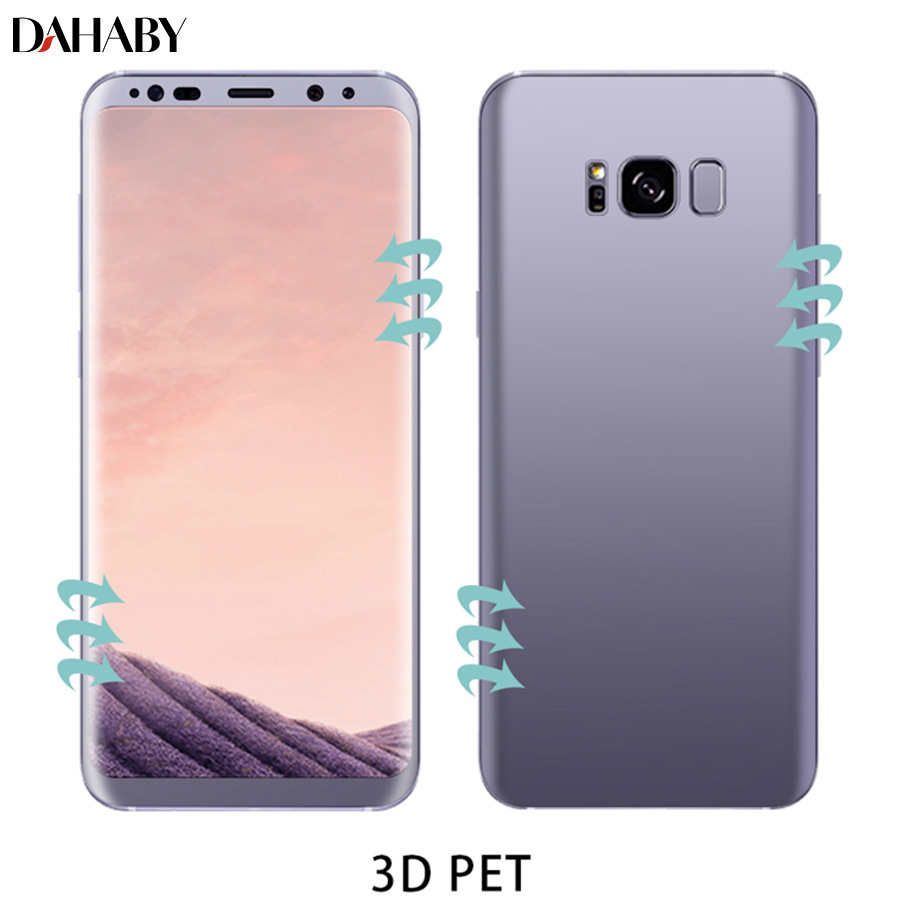 Dahaby For Samsung Galaxy S8/S8 Plus S9/S9 Plus 3D Curved Soft Front and Back PET Full Cover Screen Protector Film Not Glass