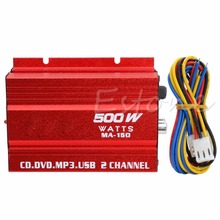 Mini Hi-Fi 500W 2 Channel Stereo Audio Amplifier For Car Auto Motorcycle NEW
