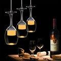 Modern led lustre de acrílico copo de vinho luzes lâmpada para sala de estar criativo lustres de iluminação do pendente do teto pendurado fixtu