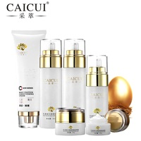 collagen protein face skin care set cleanser face cream toner emulsion bb cream eye cream anti aging beauty cosmetics caicui new