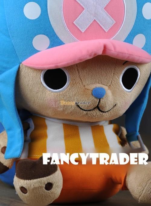 Fancytrader 16\'\' 40cm Copyrighted  Plush Stuffed Tony Tony Chopper with schoolbag & Towel FT90425 (3)