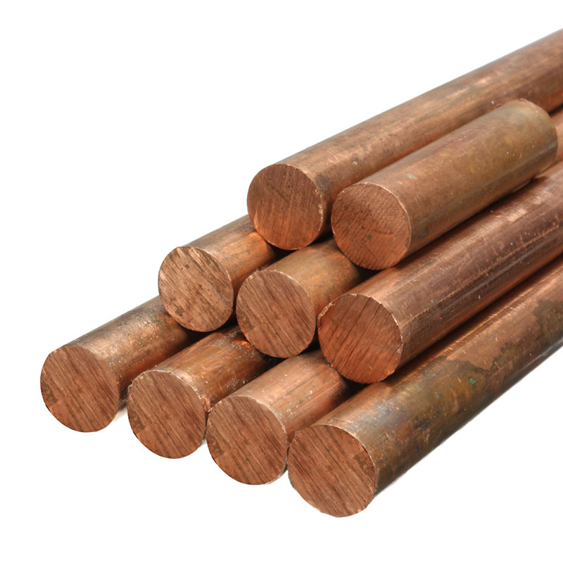 Dia.10mm T2 Copper Round Bar Copper Rod Milling / Welding / Metalworking 600mm/500mm/400mm/300mm/250mm/200mm/150mm/100mm/50mm