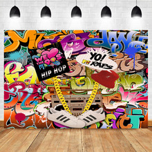NeoBack 90's Party Backdrop Graffiti Hip Pop 90s Photography Background Vinyl 90s Themed Birthday Party Banner Backdrops bowling theme birthday backdrop let s glow party graffiti wall photography background happy birthday party banner backdrops