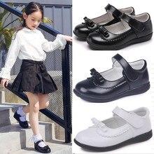 أحذية للبنات مناسبة للربيع والخريف أحذية أطفال للمدرسة مصنوعة من الجلد مناسبة للطلاب باللون الأسود أحذية للبنات 4 5 6 7 8 9 10 11 12 13 16T