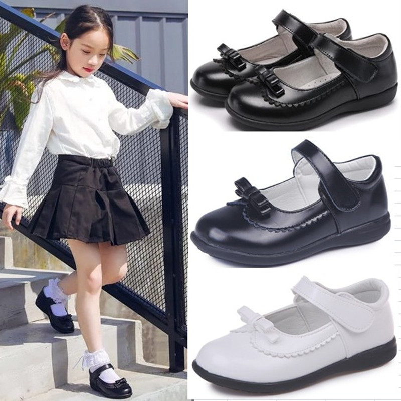 Spring Autumn Children Girls Shoes For Kids School Leather Shoes For Student Black Dress Shoes Girls 4 5 6 7 8 9 10 11 12 13-16T