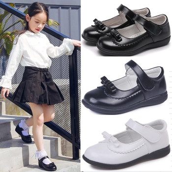 Spring Autumn Children Girls Shoes For Kids School Leather Student Black Dress 4 5 6 7 8 9 10 11 12 13-16T - discount item  11% OFF Children's Shoes
