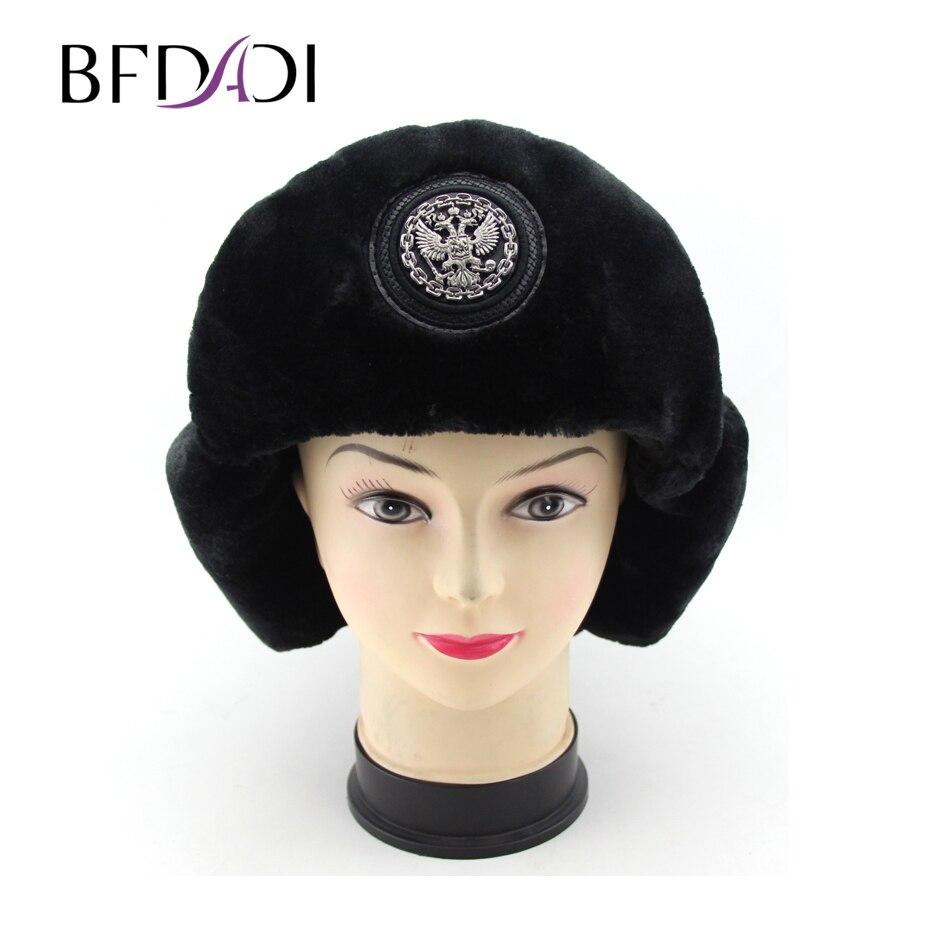 2018 Bomber Hat Female Winter Hats For Men Women Thick Warm Russian Cold Cap  Bone Male Ear Protect Snow Hat Ear Flap 790593028ca
