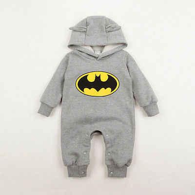 קפוצ 'ונים צמר תינוק באטמן Rompers בסך הכל ילדים ביגוד בגדי בנות בני Romper תינוק בן יומו Roupas דה Bebe