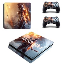 Game Battlefield 1 PS4 Slim Skin Sticker For Sony PlayStation 4 Console and Controllers For Dualshock 4 PS4 Slim Sticker
