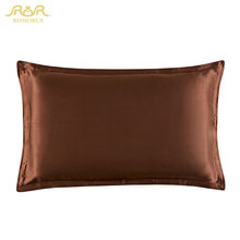 ROMORUS 1 Pair 100% Pure Natural Silk Pillowcase 48*74CM Mulberry Silk Pillow Case Bed Sleeping Pillow Sham Covers Solid Color(China)