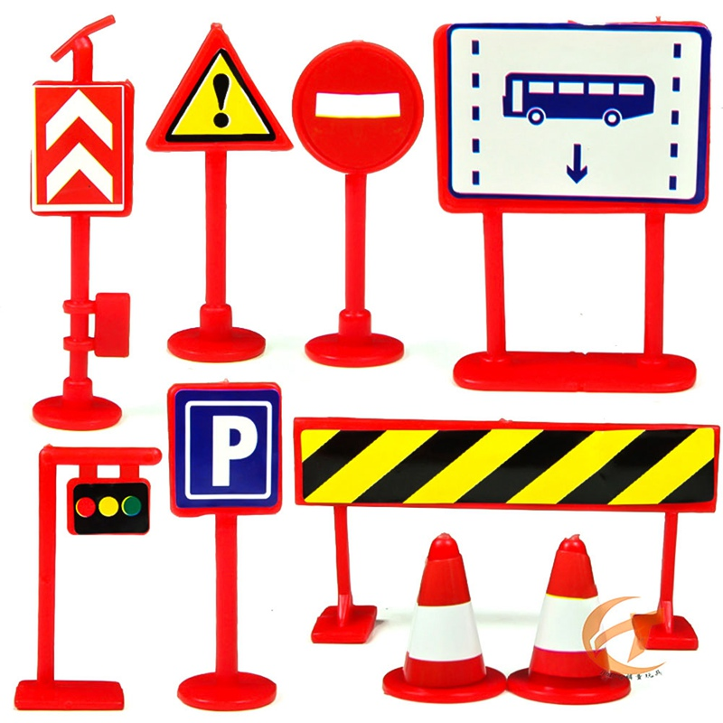 Us 0 61 20 Off Color Random Diy Model Scene Traffic Sign Toy Accessories Gift Sign Road For Kids Car Toys Sign Roadblock In Diecasts Toy Vehicles