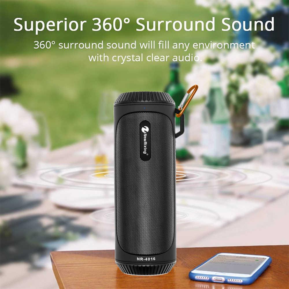 Speaker Bluetooth Kolom 2000 M Ah Portable Loudspeaker Subwoofer Tahan Air Speaker Nirkabel Mendukung TF FM Stereo Hi Fi Serangan Orang Viking