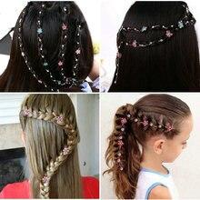 Новинка года! Стразы для наращивания волос для девушек, блестящие заколки для косы, свадебные аксессуары для волос