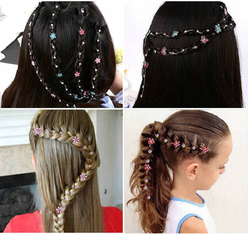 2019 New Girl Hair Extension Rhinestone Tool Glitter braid hairpin Bridal Wedding  Hair Accessories