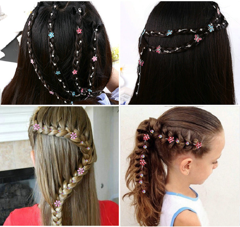 2019 New Girl Hair Extension Rhinestone Tool Glitter braid hairpin Bridal Wedding  Hair Accessories-in Braiders from Beauty & Health