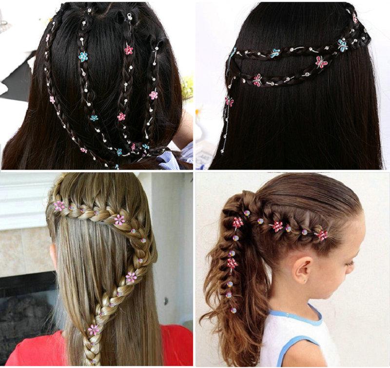 2019 New Girl Hair Extension Rhinestone Tool Glitter Braid Hairpin Bridal Wedding  Hair Accessories