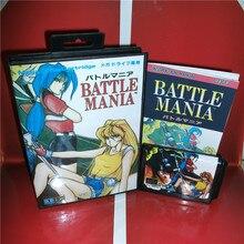 MD tarjeta de juegos-Battle Mania Japón Cubierta con Caja y Manual para MD MegaDrive Génesis Consola de Videojuegos de 16 bits MD tarjeta