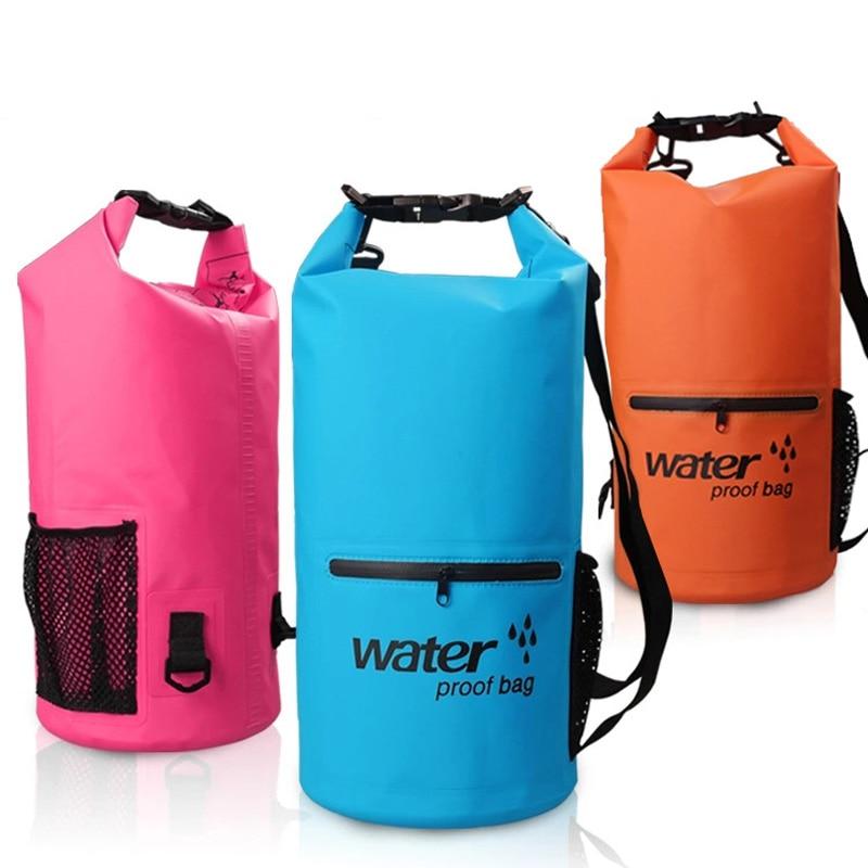 Объем 10 л, 20 л, водонепроницаемая сумка из ПВХ для плавания на открытом воздухе, для реки, треккинга, каноэ, дайвинга