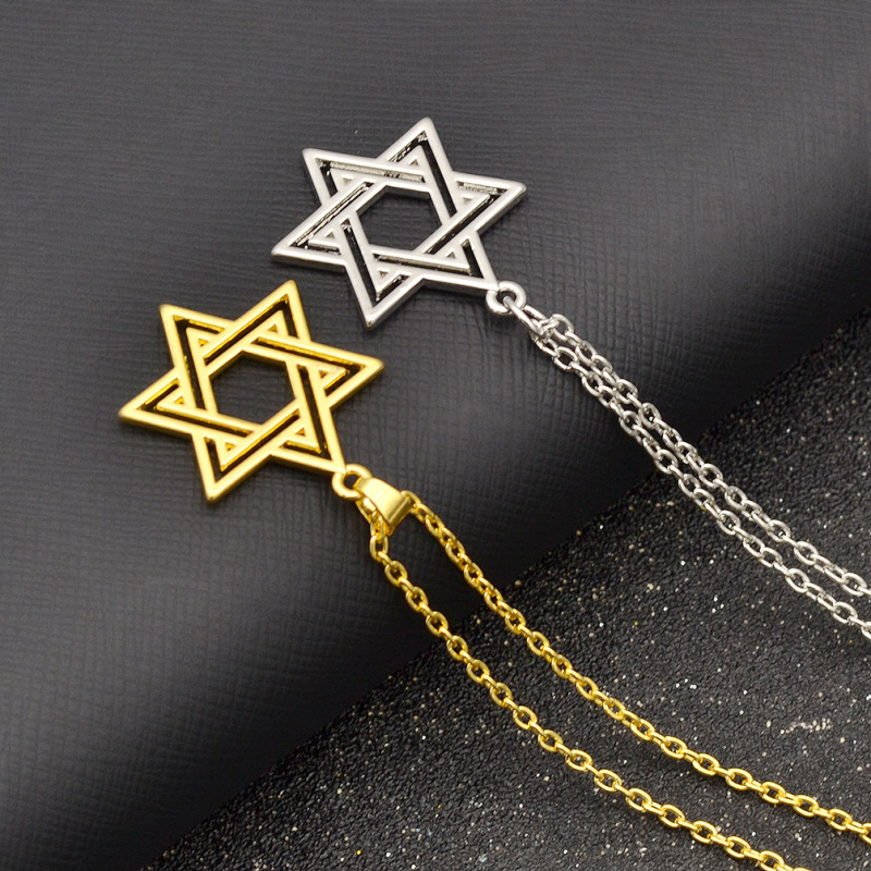 Fashion lychee star of david pendant necklace women men for Star of david necklace mens jewelry