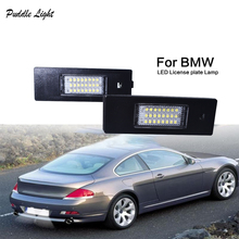 цена на 2Pcs 12V LED Number License Plate Light Lamps for BMW E81 85/6 63/4/ F612 3 Z4 K48 Car License Plate Lights Exterior Accessories
