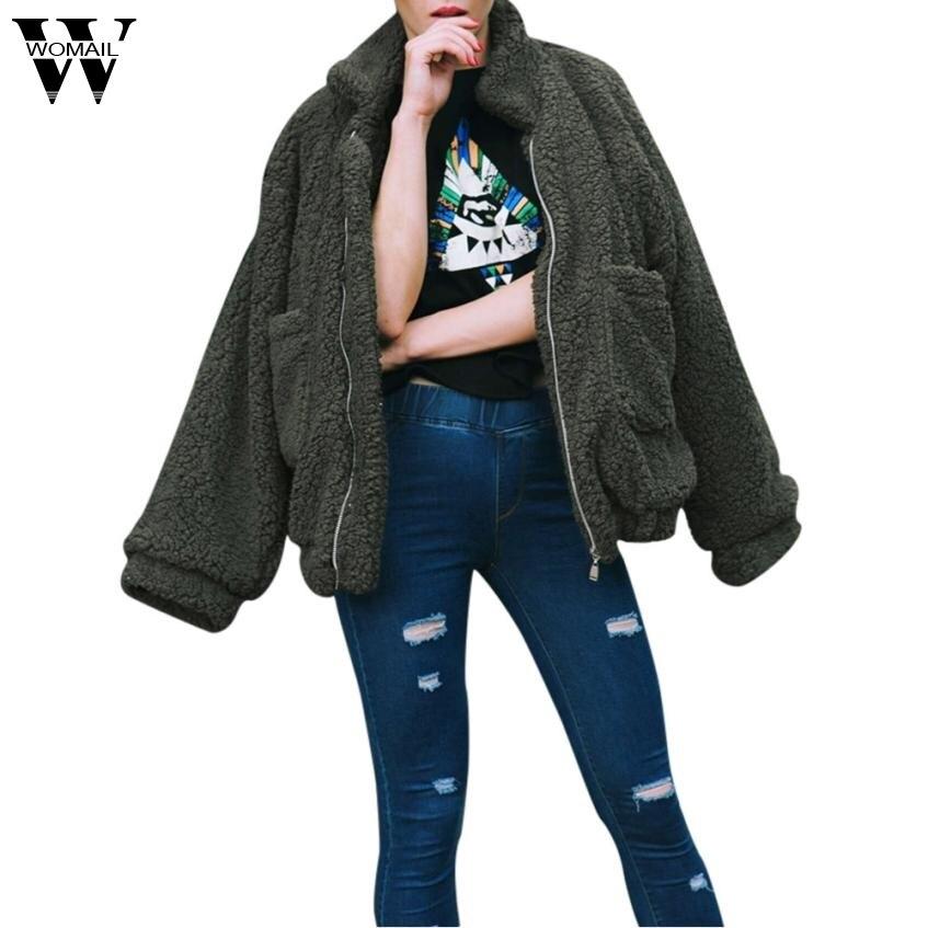 Femmes Casual Sep14 D'hiver 2017 Outwear Chaud De Veste Dames marron kaki Manteau Pardessus vert Noir npxZqvaZE