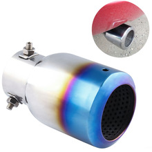 Car Refit Universal Accessory General Stainles Steel Tailpipe Silencer Interface exhaust muffler 60mm