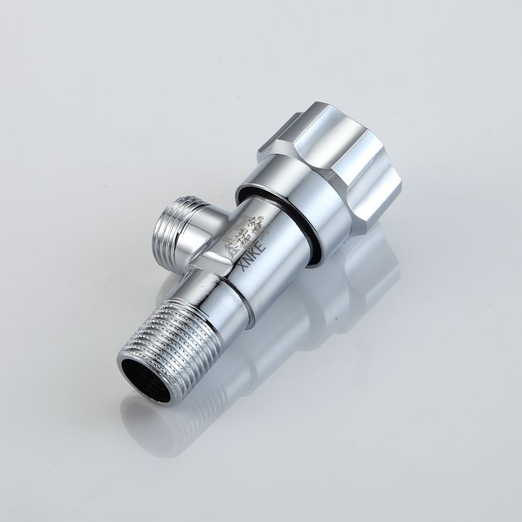 plumbing hardware accessories alloy triangular valve bathroom hot and cold explosion proof thick angle valve wholesale