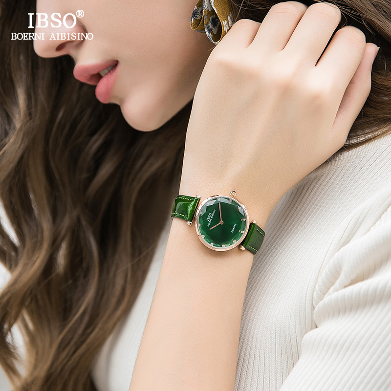IBSO Fashion Leather Watches Women Wrist Watch Relogio Feminino 2018 Top Brand Luxury Ladies Quartz Watch Montre Femme #2280 ruimas fashion leather quartz watch top brand luxury women watches ladies clock relogio feminino montre femme lover wristwatches