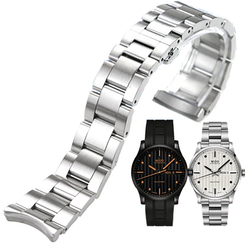 ISUNZUN Mens Watch Strap For MIDO M005430A M005 Watches Accessories 22mm 23mm Black Silver Watch Band Stainless Steel BraceletISUNZUN Mens Watch Strap For MIDO M005430A M005 Watches Accessories 22mm 23mm Black Silver Watch Band Stainless Steel Bracelet