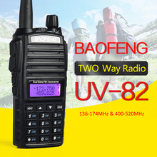 Бесплатная Доставка портативной рации BaoFeng УФ-82 Dual Band 136-174/400-520 МГц FM Ветчиной двухстороннее Радио трансивер baofeng 82 CB радио