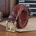 Genuine Leather Handmade Unisex Braided Belt Men Belt High Quality Vintage Style Women Belt Ceinture Homme Femme Belt MBT0239