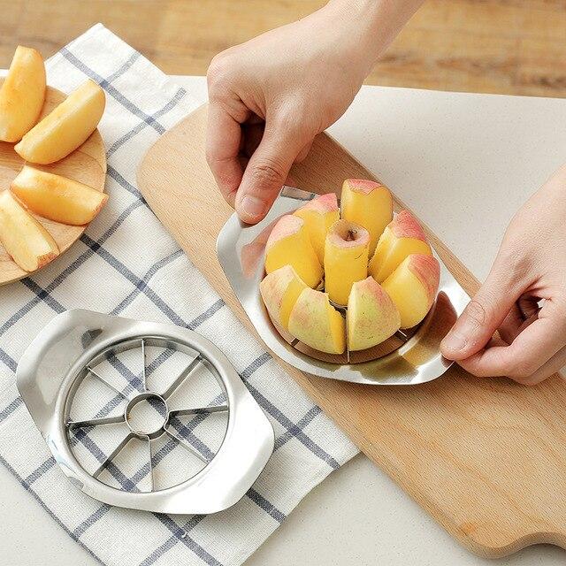1 pz di Apple Cutter In Acciaio Inox di Frutta Affettatrice di Apple Corer Pera