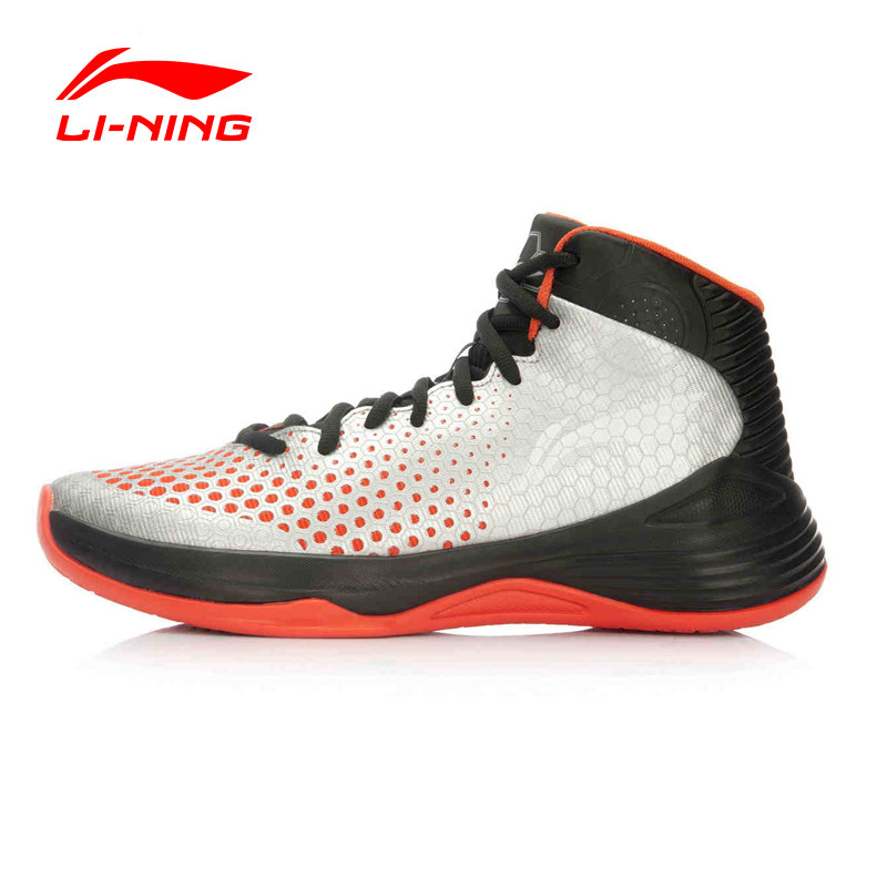 Li-Ning Shoes Print Street Men's Basketball Shoes Cushioning Breathable Stability Professional Sneakers Sports Shoes ABPL019 li ning men s professional basketball shoes dmx breathable dynamic shell sound v td series sports sneakers abpm005