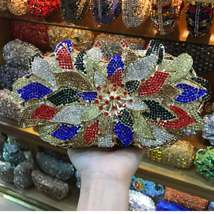 green/gold/silver/blue Women Crystal Hollow Out Clutch Floral Clutches Wedding Bridal Hand Bags Diamond Gold Hard Evening purse women red gold blue diamond evening bags gold clutch hard box clutches bags day clutch party purse wedding bridal bag women bags